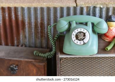 Broken retro phone