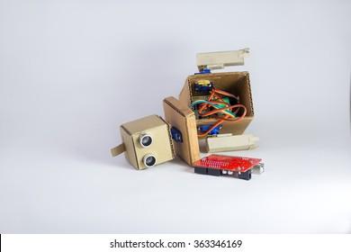broken robot, wires