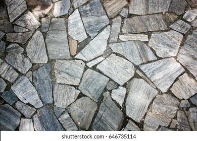 Broken rock floor