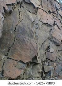 Broken Rock Wall as Background