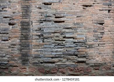 Broken rock walls
