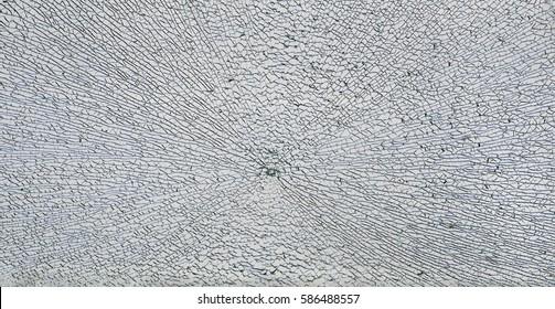 broken safety glass on white background.
