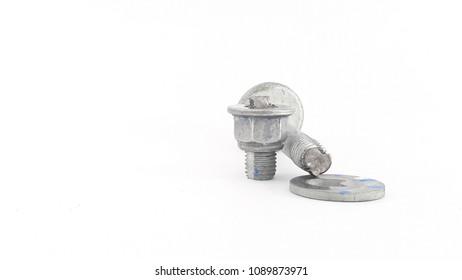 Broken screw using a very tight tightening.
