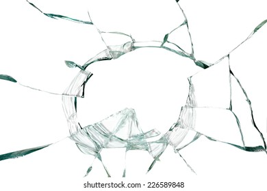 Broken silicate glass abstract background