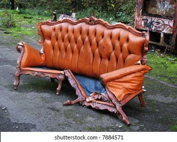 broken sofa