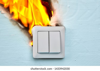 Broken switch became  cause of fire.