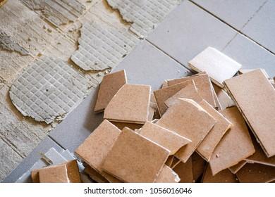 Broken tile, Damage floor