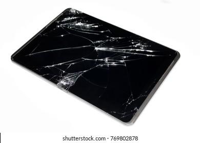 broken touchpad closeup