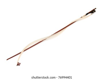 broken violin bow, isolated