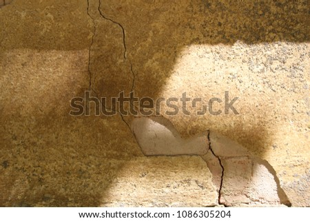 Broken Wall. Background pattern.