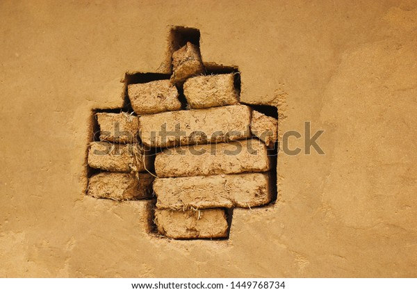 Broken Wall Old House Wallpaper Located Stock Photo Edit