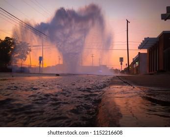 Broken Water Main on a Summer's Evening