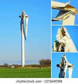 Broken Wind Energy Turbine