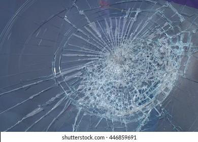 broken windshield in car accident