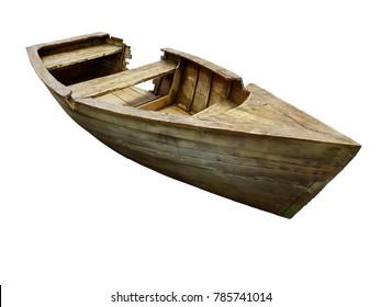 broken wooden boat