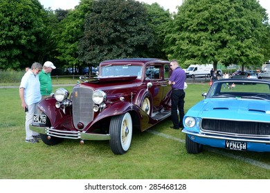 BROMLEY, LONDON/UK - JUNE 07 : BROMLEY PAGEANT of MOTORING. The biggest one-day classic car show in the world! June 07 2015 in Bromley, London, UK.
