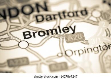 Bromley. United Kingdom on a map