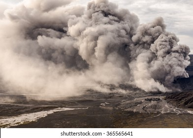 The Bromo volcano eruption, Java, Indonesia