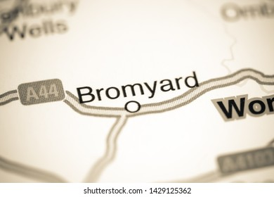 Bromyard. United Kingdom on a map