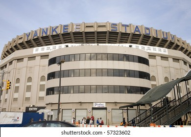 BRONC, NY - APRIL 08: Old Yankee Stadium just before it was torn down on April 08, 2009 in Bronx, NY.