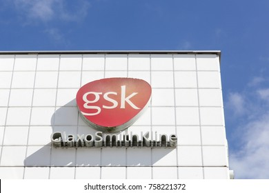 Brondby, Denmark - September 10, 2017: GlaxoSmithKline office building in Brondby, Denmark. GlaxoSmithKline also called GSK is a British pharmaceutical company headquartered in Brentford, London