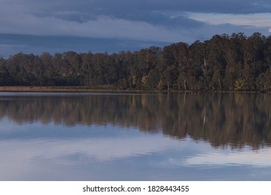 Bronte Lagoon in Tasmania's central highlands is a beautiful, manmade lake especially enjoyed by trout fishermen