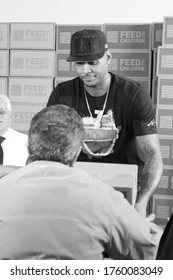 Bronx, New York/ New York/ 03-24-2015:  Carmelo Anthony Teams Up With Feed The Children