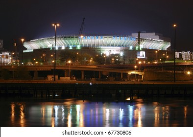 BRONX, NEW YORK - APRIL 10: Old Yankee Stadium as viewed from Manhattan.  Photographed April 10, 2008 in New York.