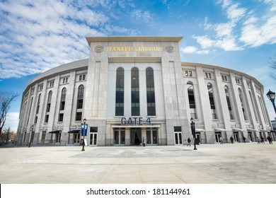 BRONX, NEW YORK CITY  - MARCH 8, 2014: View of Yankee Stadium in the South Bronx in New York City. It is the home ballpark for the New York Yankees.