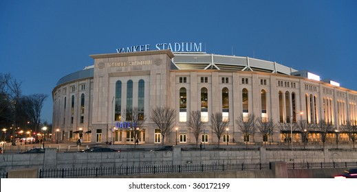 BRONX, NEW YORK - DECEMBER 5: The new Yankee Stadium at night.  Taken December 5, 2014,  