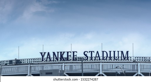BRONX, NEW YORK - JUNE 11: Yankee Stadium sports building. Exterior view on June 11, 2013 in the Bronx, New York