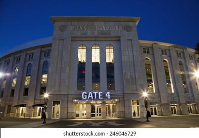 BRONX, NEW YORK - JUNE 20: Yankee Stadium at twilight.   Taken June 20, 2014 in the County of the Bronx, NY.