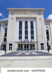 BRONX, NEW YORK - JUNE 26: The famous Yankee Stadium sports building entrance on June 26th, 2012 in the Bronx, New York.