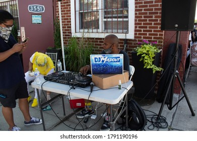 "Bronx, New York/ United States-July 18 2020:Music Over Violence In Partnership With Bridgefield Civic League ""Occupy The Block"""