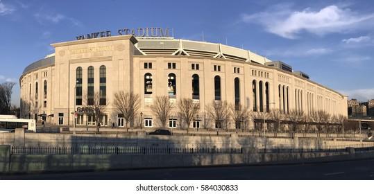 BRONX, NEW YORK, USA - FEBRUARY 19:  Panoramic of Yankee Stadium during the day.  Taken February 19, 2017 in New York.