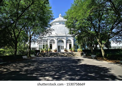 Bronx, New York/USA - July 10, 2018: Views from the famous Bronx Botanical Garden in the summer