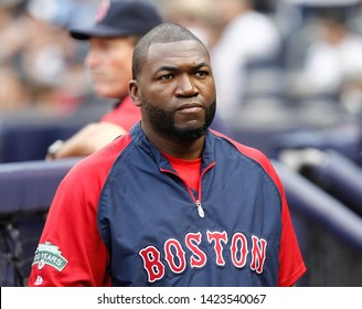 BRONX, NY - JUL 28: Former Boston Red Sox baseball player David Ortiz attends the game on July 28, 2012 at Yankee Stadium in the Bronx, New York.