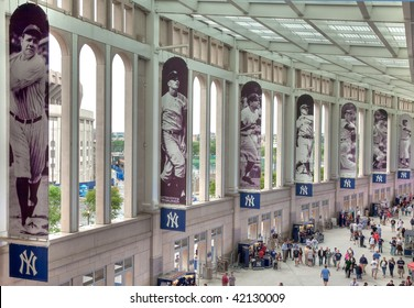 BRONX, NY- JUNE 13: A view of the promenade in the new billion dollar Yankee Stadium, home of the 2009 World Series Champions New York Yankees on June 13, 2009 in the Bronx, NY.
