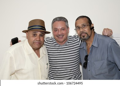 BRONX, NY - JUNE 24: Eddie Montalvo and friends visit legendary cuatro player Yomo Toro  in the Hospital. Yomo's health was failing at the time and was gravely ill. Photographed June 24, 2012 in NYC.