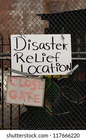 BRONX, NY - NOVEMBER 3: Hurricane Sandy causes gas shortage in Bronx gas relief program at Armory in the Bronx. NY, U.S., on Saturday, November 3, 2012.