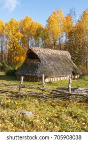 Bronze Age Longhouse on a meadow