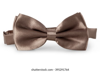 A bronze bow Tie, isolated on white background