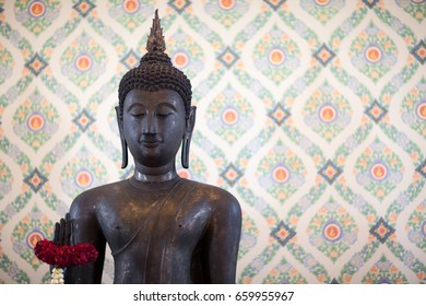 Bronze Buddha, temple statue from Thailand