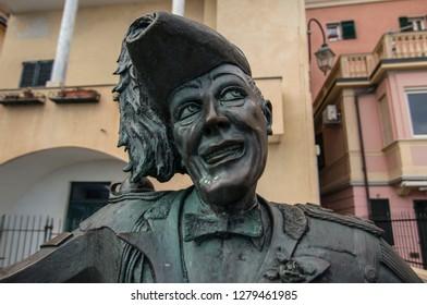Bronze Bust of Totò - Alassio - Summer 2017