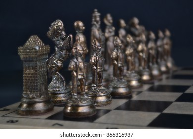 Bronze Chess Set