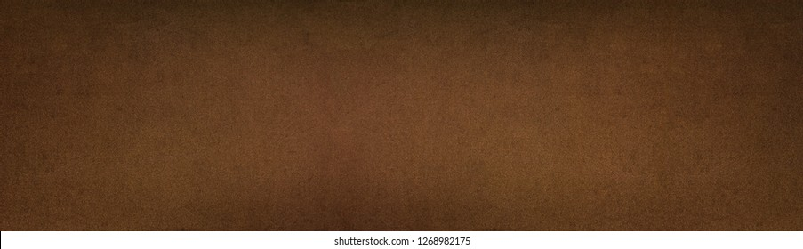 Bronze color painted metal texture panorama. Aged metallic wide panoramic surface. Retro vintage roomy background
