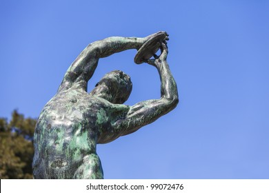bronze discobolus from the Panathenaic Stadium in Athens (that hosted the first modern Olympic Games in 1896)