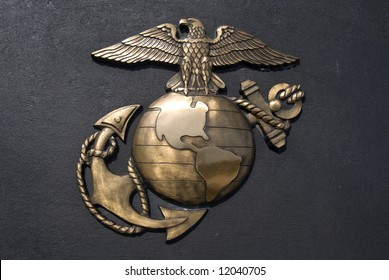 Bronze emblem of the U.S. marines