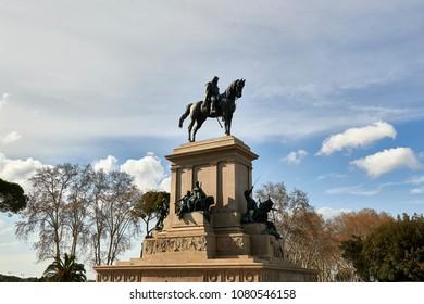 Bronze equestrian statue of Giuseppe Garibaldi at the Gianicolo, Rome