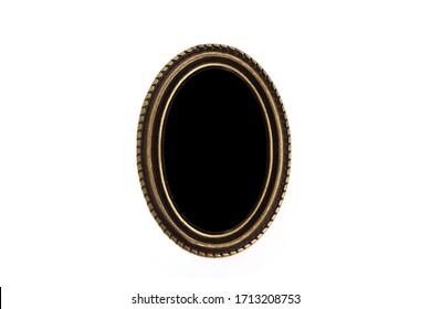 bronze frame locket on white with glass. Gemma